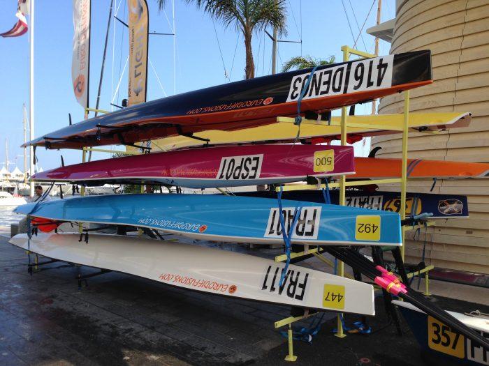 Euro Diffusion's Coastal Boote auf Trailer während Weltmeisterschaft 2016 in Monaco